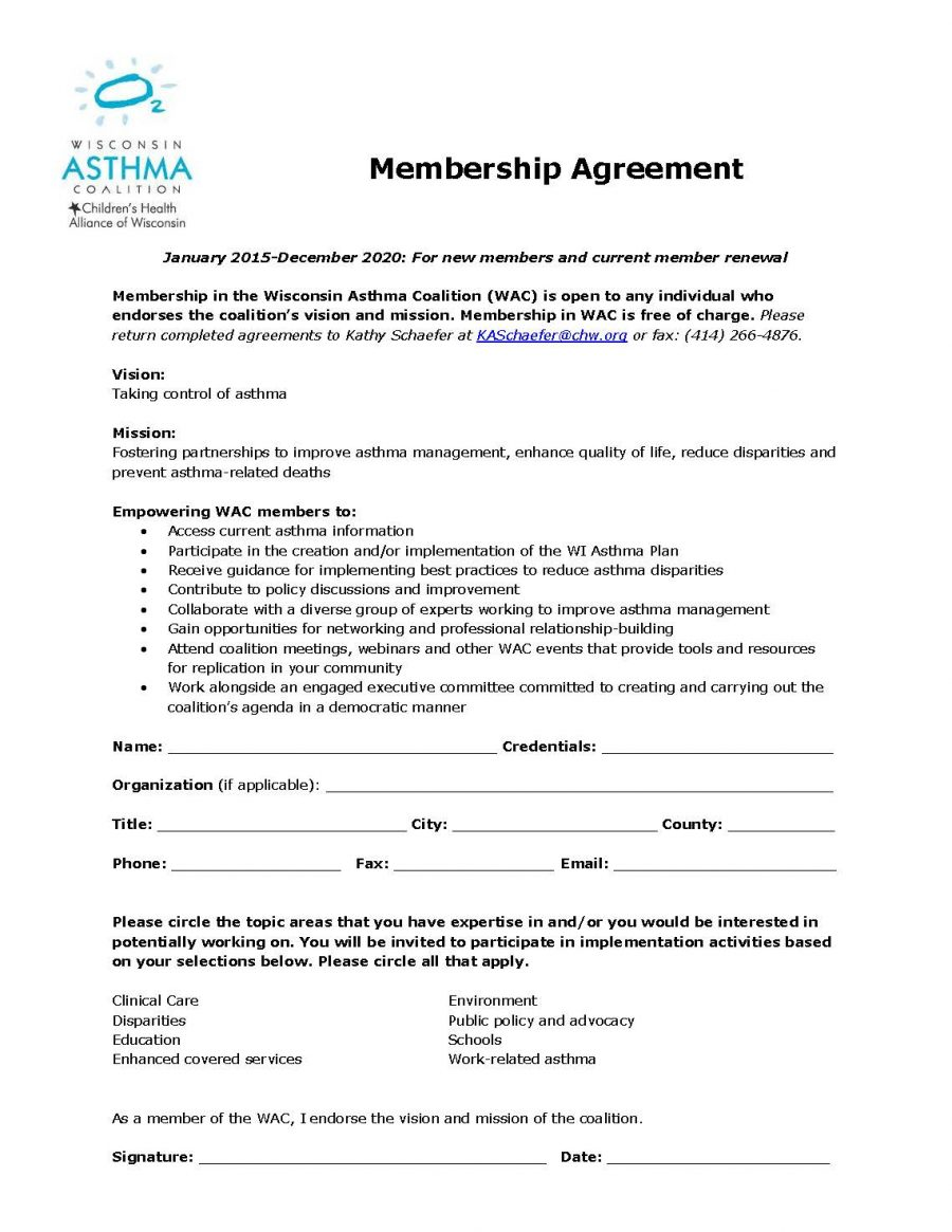 WAC Membership Agreement