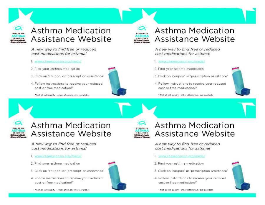 Asthma Medication Assistance Postcards