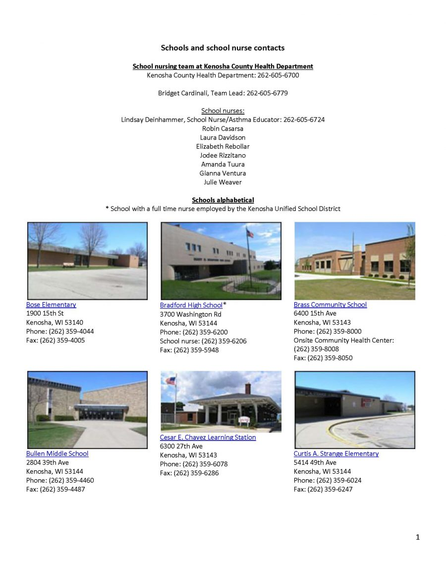 Kenosha School District Contacts