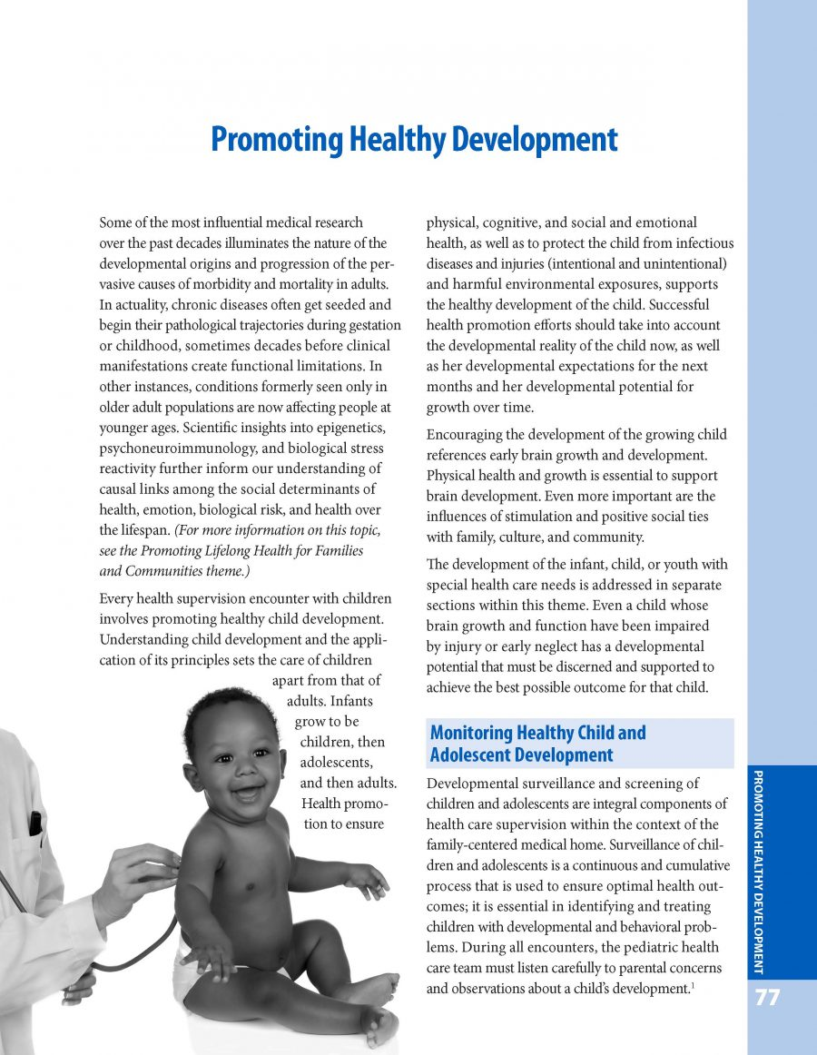 Bright Futures Guidelines - Promoting Healthy Development