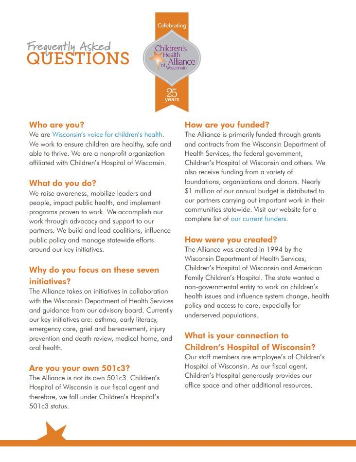 Alliance FAQs