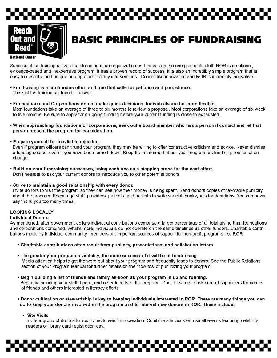 Basic Principles of Fundraising