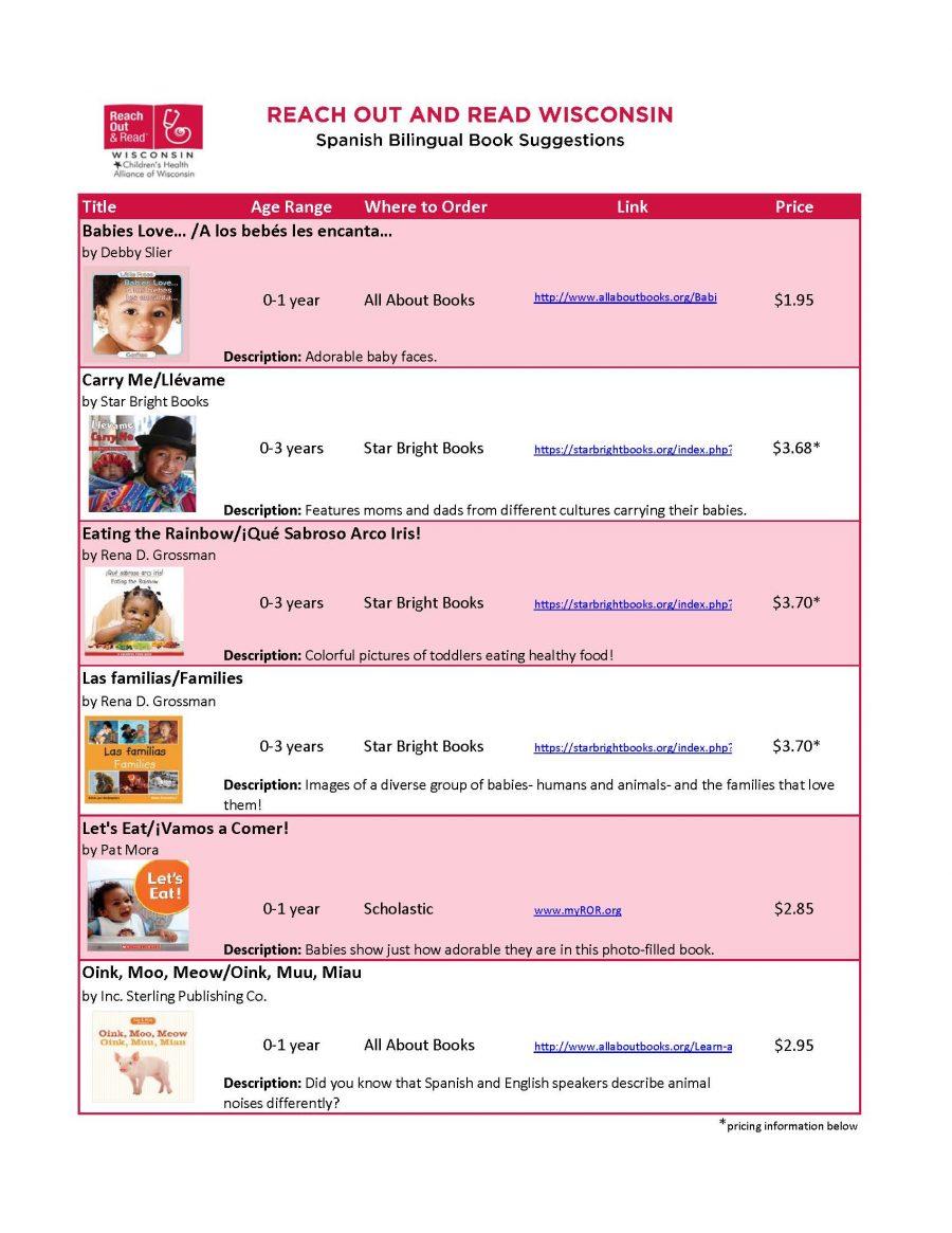 Spanish Bilingual Book List