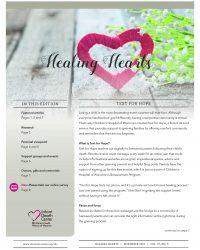 Healing Hearts Newsletter