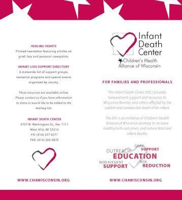 Infant Death Center Brochure