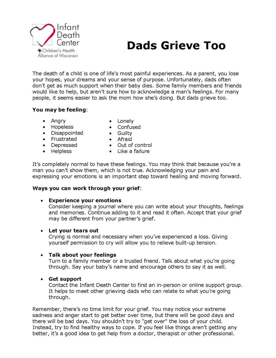 Dads Grieve Too