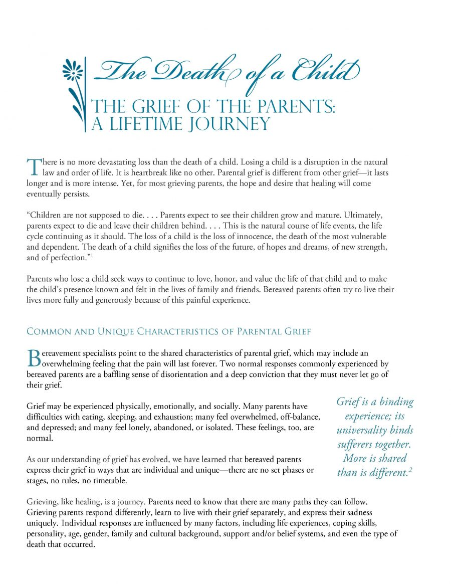 Death of a Child - Grief of the Parent