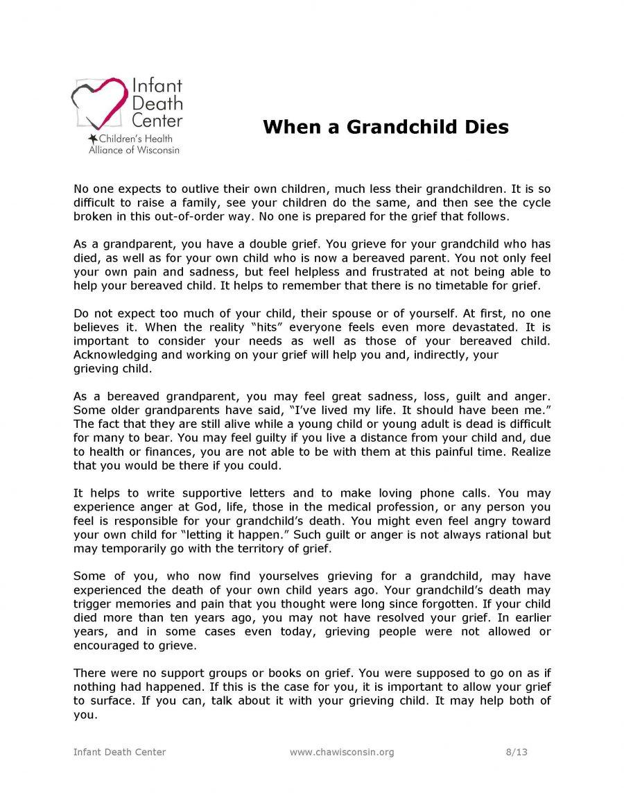 When a Grandchild Dies
