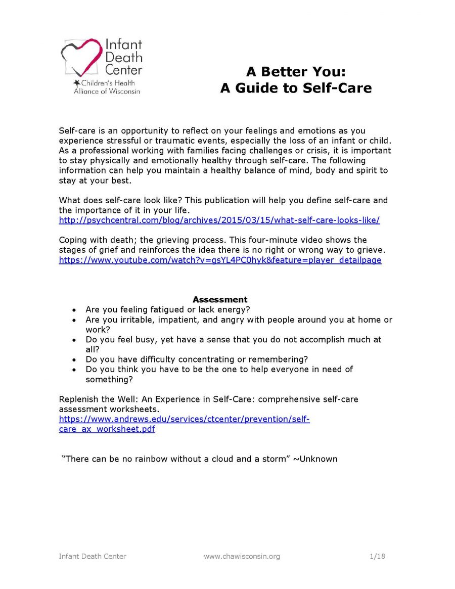 A Better You: Self-Care Guide