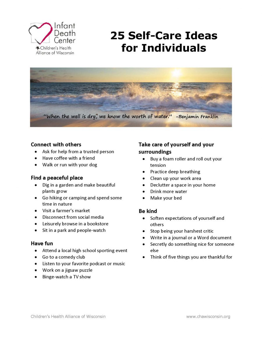 Self-Care Ideas for Individuals
