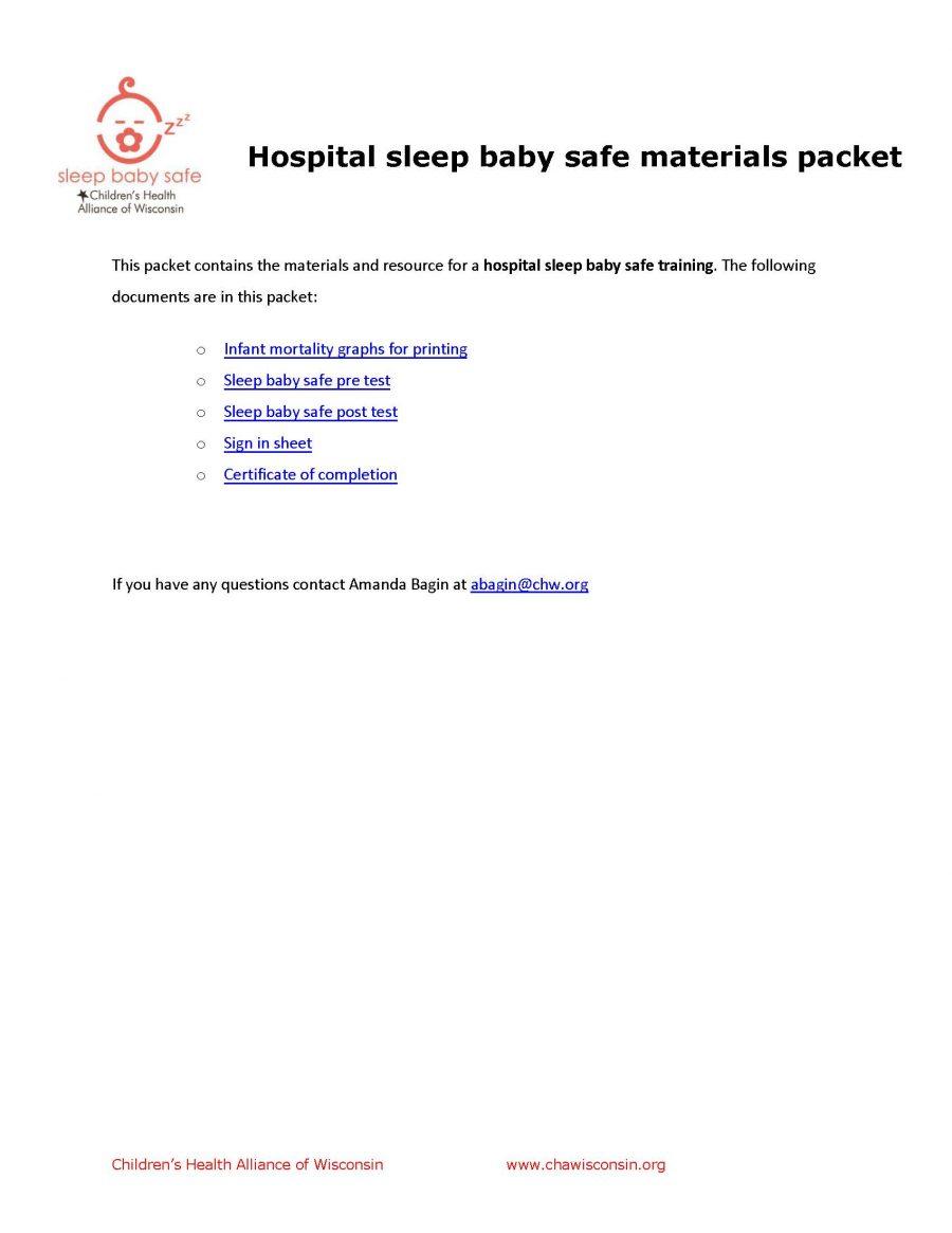 Hospital SBS Materials Packet