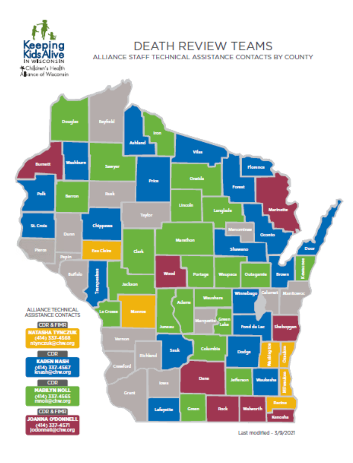Keeping Kids Alive Technical Assistance Map 2021