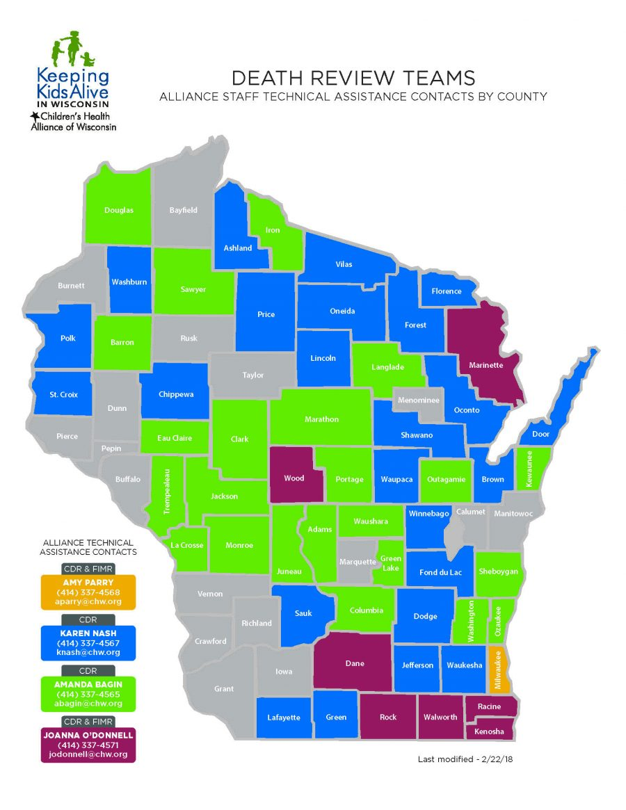 Keeping Kids Alive Technical Assistance Map