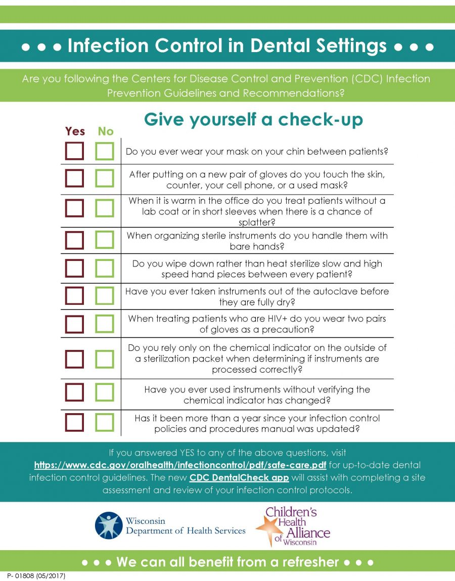 Infection Control Checklist