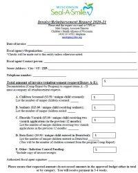 Seal-A-Smile Reimbursement Request Form